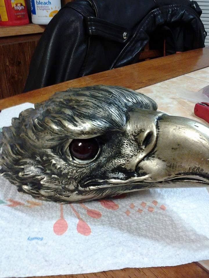 Eagle Sculpture on Motorcycle Fairing